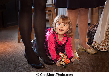 Little girl on a wedding