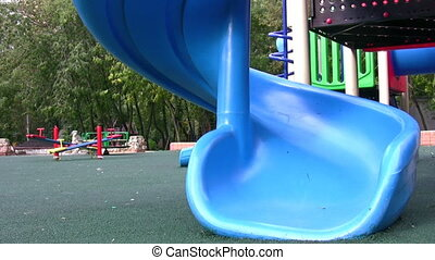 little girl on playground - Little girl on playground