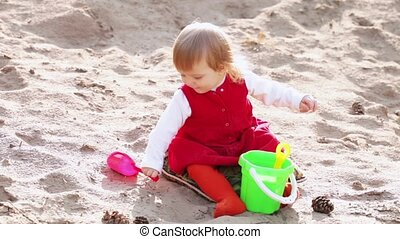 Little girl on sand