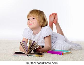 little girl on the floor