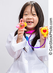 Little Girl Playing Doctor
