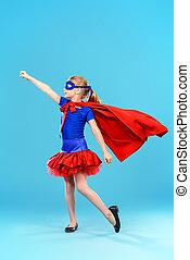 playing in superhero