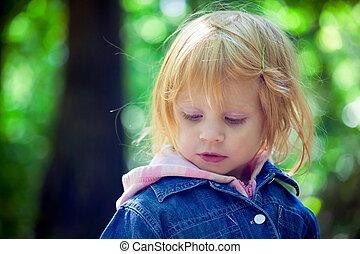 Little girl portrait in the park
