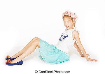 Little girl posing for the camera