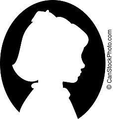 little girl profile silhouette