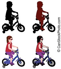 little girl riding bicycle