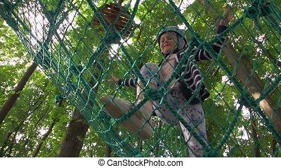 Little Girl Rope Park