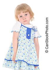 Little girl serious