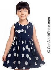 Little girl smiling isolated