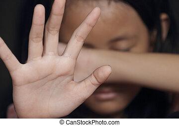 Little Girl Suffering Bullying - Little girl suffering...
