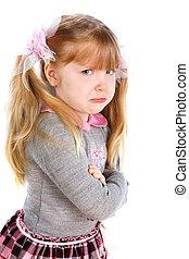 little girl taking great offense