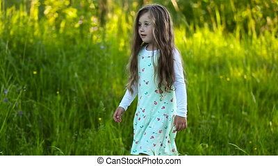 little girl walking