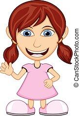 Little girl wearing a pink dress