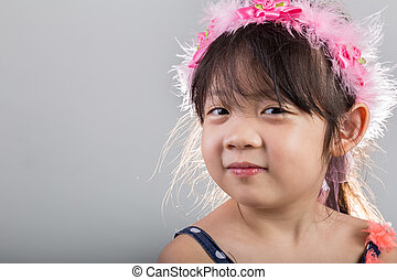 Little Girl Wearing Flower Crown