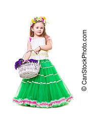 Little girl wearing like spring