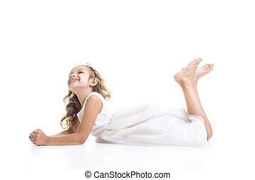 Little girl white dress