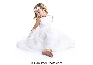 Little girl white dress