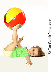 Little girl with a ball.