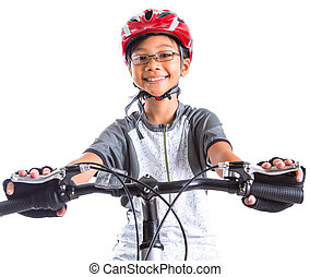 Little Girl With A Mountain Bike