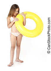 girl with a rubber ring