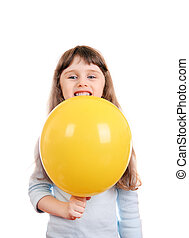 Little Girl with Balloon