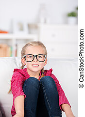 Little Girl With Big Glasses