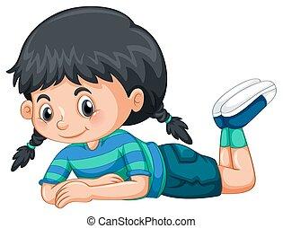 Little girl with black hair