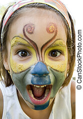 Little girl with butterfly make-up