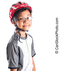 Little Girl With Cycling Attire