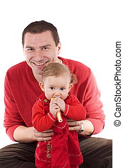 little girl with father