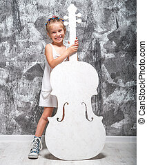 little girl with her cello