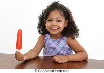 Little Girl with Icepop