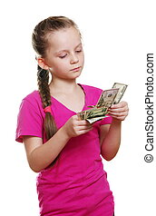 girl with money