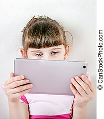 Little Girl with Tablet