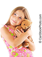 Little girl with teddy-bear