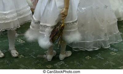 Little girls feet dancing