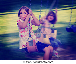 Little Girls Playing at Park Instagram