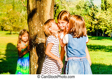 Little girls playing in the Park