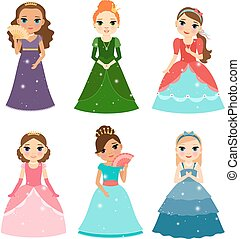 Little girls princess - Little girls vector princess...