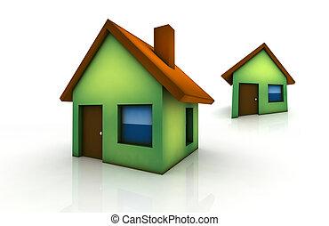 little green houses