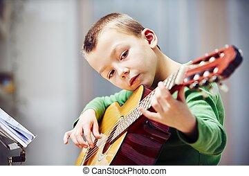 Little guitarist