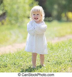Little happy girl smiling