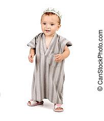 little happy muslim kid baby