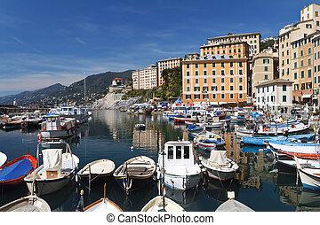 little harbor in Camogli, Italy