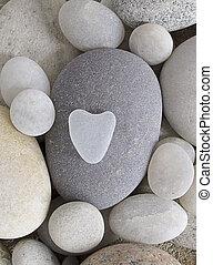 heart shaped pebble