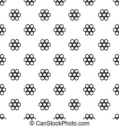 Little honeycomb pattern vector