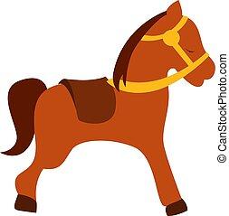 Little horse, illustration, vector on white background.