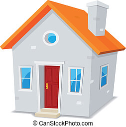 Little House - Illustration of a cartoon simple small house...