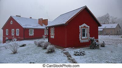 Little house in winter