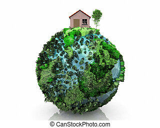 little house on a planet